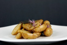 Fingerling Potato Salad of Black Truffle and Chive