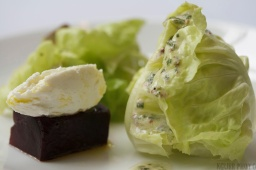 Beet, Chevre and Butter Lettuce with Herbed Vin